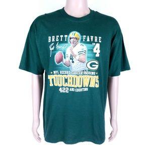 Jerzees Men Shirt #4 Brett Favre Green Bay Packers
